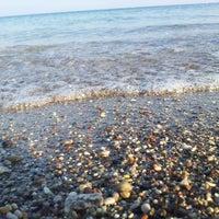Photo taken at Kolymbia Beach by Veronika on 8/16/2013