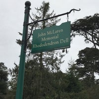 Photo taken at John McLaren Memorial Rhododendron Dell by Eric C. on 3/18/2018