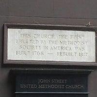 Photo taken at John Street Church by Damien B. on 9/10/2013