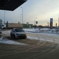 Photo taken at Газпромнефть АЗС № 28 by Igor Z. on 1/3/2016