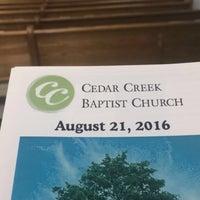 Photo taken at Cedar Creek Baptist Church by T Gregory K. on 8/21/2016