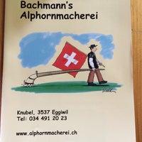 Photo taken at Bachmann's Alphornmacherei by Dominique R. on 5/26/2014