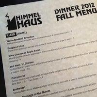 Photo taken at Himmel Haus by Tiara W. on 11/11/2012