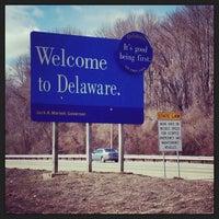 Photo taken at Delaware / Pennsylvania State Border by Jenn B. on 3/14/2013