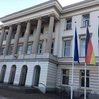 Photo taken at Rathaus Krefeld by Kamuran H. on 5/9/2017