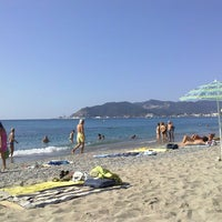 Photo taken at Spiaggia delle Fornaci by Josue V. on 8/22/2013