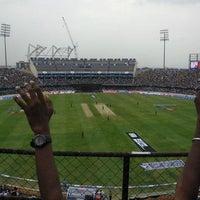 Photo taken at Rajiv Gandhi Cricket Stadium by Varun R. on 8/13/2013