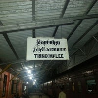 Photo taken at Trincomalee Railway Station by Charith A. on 12/15/2013