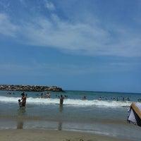 Photo taken at Playa Marina Grande by Lawrence C. on 10/12/2013