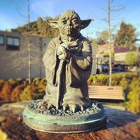 Photo taken at Yoda Statue by Ohad B. on 4/6/2014