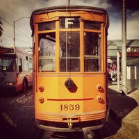 Photo taken at F Street Car Muni Stop - Don Chee Way by Ohad B. on 8/17/2013