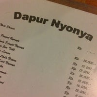 Photo taken at Dapur Nyonya by eunike w. on 11/23/2012