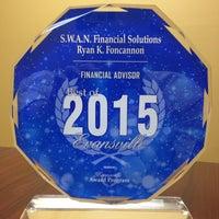 Photo taken at S.W.A.N. Financial Solutions-Financial Advisor: Ryan K Foncannon by Ryan F. on 4/30/2015