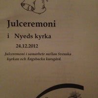 Photo taken at Nyeds Kyrka by Karma on 12/24/2012