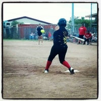 Photo taken at Freedom Park - DF Softball by Lisa on 6/23/2013