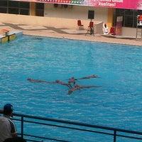 Photo taken at Aquatic Center Rumbai by Venesha on 9/18/2012