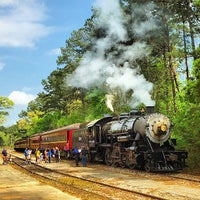 Photo taken at Texas State Railroad Rusk Depot by Michael G. E. on 4/3/2015