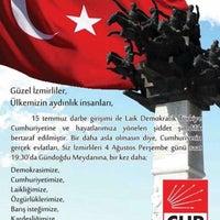 Photo taken at Cumhuriyet Halk Partisi İzmir İl Başkanlığı by Hatice E. on 8/4/2016