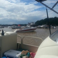 Photo taken at Sandbar At Lake Wylie by Ashley B. on 7/6/2013