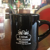 Photo taken at Four Star Diner Union City by Felipe P. on 1/26/2013
