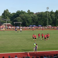 Photo taken at Stadion am Weiher by Clemens K. on 7/10/2013