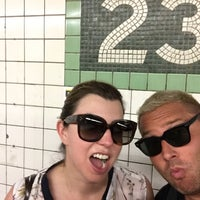 Photo taken at MTA Subway - 23rd St (F/M) by Seth F. on 7/20/2017