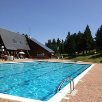 Photo taken at Piscina La Molina by Monica Q. on 7/26/2013