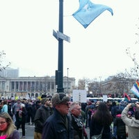 Photo taken at Benjamin Franklin Parkway by Anne on 1/21/2017