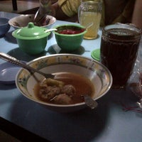 Photo taken at Bakso Bakar Bambu Wulung by Dyah A. on 11/20/2013
