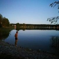 Photo taken at Ozolnieku ezers (Ozolnieki Lake) by Sintija on 9/16/2016
