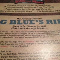 Photo taken at Big Blue's Ribs And More by Greg M. on 12/11/2012