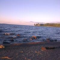 Photo taken at Пляж Сайнаволок by Серж R. on 7/9/2014