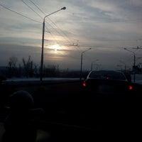 Photo taken at Днепровский мост by Алексей С. on 1/21/2016