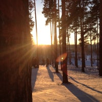 "Photo taken at Лыжная База МУП СОК ""Калининец"" by ANNA I. on 1/31/2015"