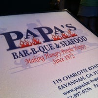 Photo taken at Papa's Bar -B -Que & Seafood by Steve S. on 1/21/2013