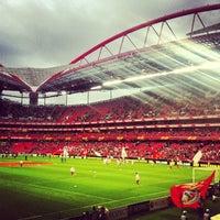 Photo taken at Estádio do Sport Lisboa e Benfica by Sergio G. on 4/4/2013