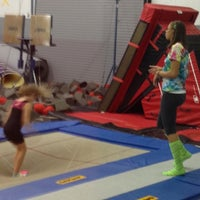 Photo taken at Dynamite Gymnastics Center by Jamie D. on 8/2/2013