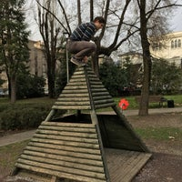 Photo taken at Parco Fratelli Locatelli by Michal Z. on 2/26/2017