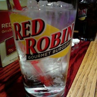 Photo taken at Red Robin Gourmet Burgers by Christine M. on 1/8/2012