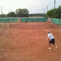 Photo taken at Röpte teniszpálya/lelátó :o) by Anikó Z. on 7/6/2012