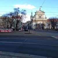 Photo taken at Karlovo náměstí (tram, bus) by Ieva P. on 2/25/2012