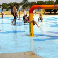 Photo taken at Splash Pad Nelson Park by Cory on 8/19/2012