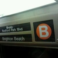 Photo taken at MTA Subway - B Train by Daniel S. on 6/25/2012