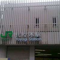 Photo taken at Yoyogi Station by Shelly M. on 4/20/2012