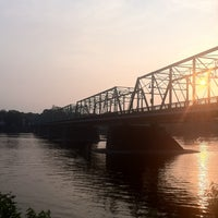 Photo taken at New Hope-Lambertville Toll Supported Bridge by Sean G. on 6/22/2011