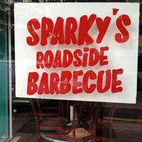 Photo taken at Sparky's Roadside BBQ by Mac M. on 3/22/2012