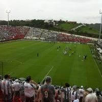Photo taken at Estádio Joaquim Henrique Nogueira (Arena do Jacaré) by Rodrigo B. on 11/27/2011