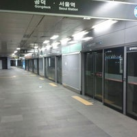 Photo taken at Hongik Univ. Stn. by Joon Pyo K. on 3/19/2012