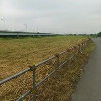 Photo taken at 羽根倉橋 by Ayane on 8/14/2012