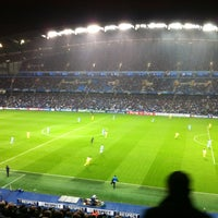 Photo taken at Etihad Stadium by Olly H. on 10/18/2011
